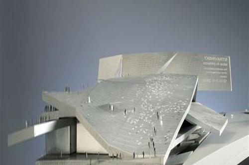 Architect Philharmonie's plan looks like a € 534 million note in Paris