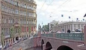 St. Anichkov Bridge Petersburg