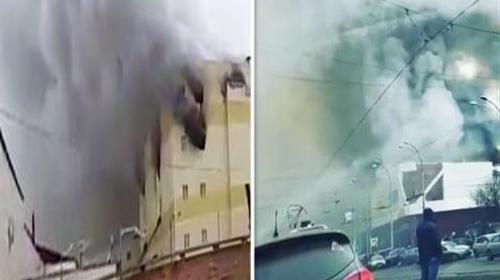 VIDEO - Major fire in a St. Petersburg hypermarket: Hundreds of people evacuated / Part of roof collapsed